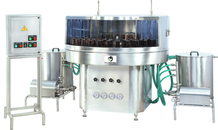Manufacturer of Rotary Bottle Washing Machine