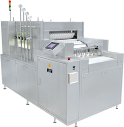 Manufacturer of Automatic Tunnel Type Linear Vial Washing Machine.